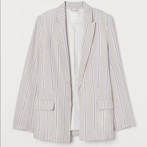 H&M Straight Cut Linen Blazer